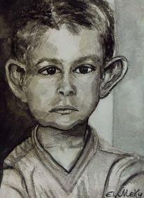 Gefühl, Vater, Malerei, Junge