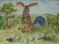 Frohe ostern, Ei, Überraschung, Frühling