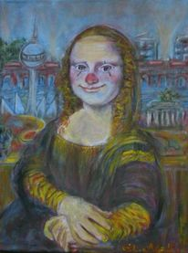 Berlin, Gemälde, Clown, Mona lisa