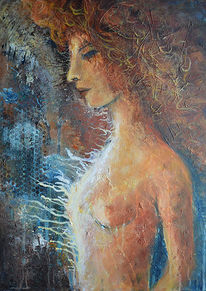 Haare, Profil, Frau, Akt