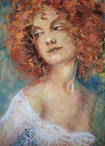 Sinnlichkeit, Rote haare, Frau, Portrait
