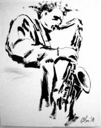 Ruhen, Malereien, Musiker, Zeichnung