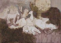 Grimm, 2011, Zeichnungen, Wolf