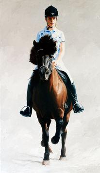 Reiter, Porträtmalerei, Tiere, Sport