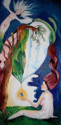 Blau, Engel, Baum, Schlange