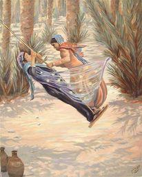 Moderne kunst, Malerei, Arabe, Afrika