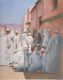 Menschen, Malerei, Orient, Zeitgenössisch