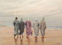 Frau, Arabisch, Orientalismus, Contemporain