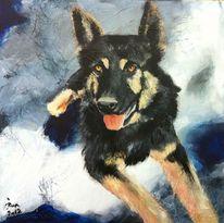 Portrait, Hund, Malerei, Auftragsarbeit