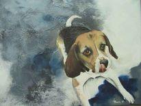 Hund, Lieber hund, Beagle, Malerei