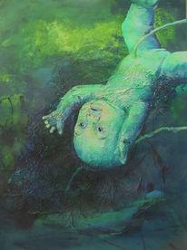 Baby, Wasser, Malerei