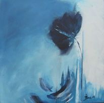 Traum, Mohn, Blau, Malerei