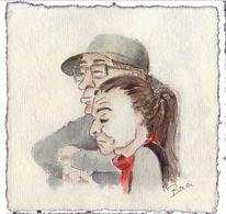 Portrait, Aquarellmalerei, Skizze, Schnell