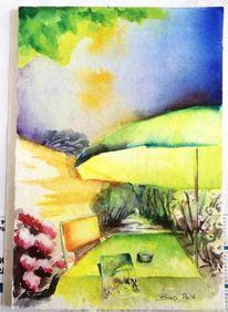 Lieblingsplatz, Garten, Sonnendurchflutet, Skizzenbuch