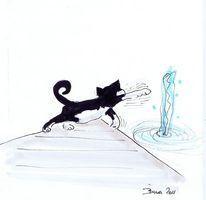 Bloder kater, Zeichnungen