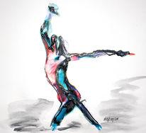 Caravaggio, Bewegung, Acrylmalerei, Rausch