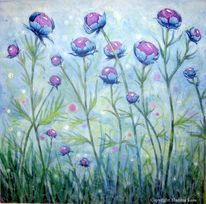 Violett, Aquarellmalerei, Blumen, Blau