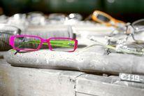 Brille, Schwarzweiß, Schwarz weiß, Pink