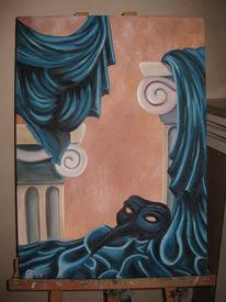 Theater, Venedig, Maske, Venezianisch falten faltenwurf