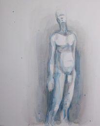 Weiß, Figur, Menschen, Aquarellmalerei