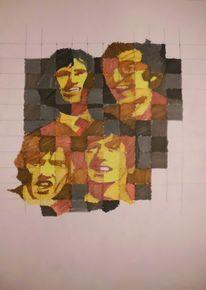 Braun, Beatles, Ocker, Gelb