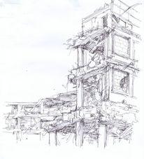 Ruine, Zeichnungen,