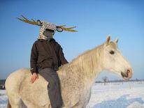 Maske, Reiten, Aufführung, Tiere