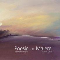 Buch, Malerei, Poesie, Pinnwand