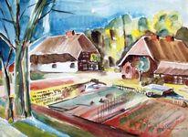 Bodden, Aquarellmalerei, Mecklenburg, Ahrenshoop