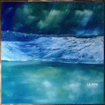 Wasser, Dämmerung, Schnee, Himmel