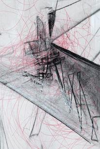 Malerei, Informel, Skizze, Transparenz