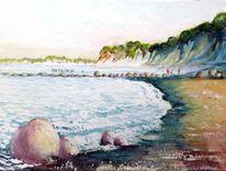 Glowe, Strand, Insel rügen, Malerei