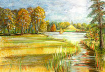 Park, Panorama, Branitzer, Zeichnungen