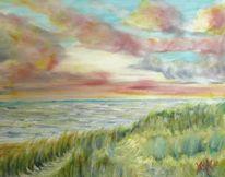 Dämmerung, Leichte brise, Ostsee, Malerei
