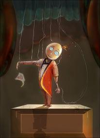 Puppenspiel, Marionette, Marionettenkönig, Politik