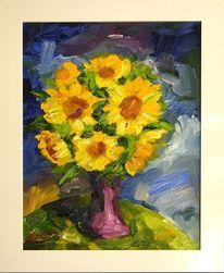 Sonnenblumen, Expressionismus, Gelb, Blumen