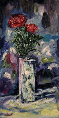 Rose, Eis blau rot