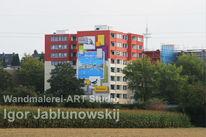 Wandgestaltung, Modern, Fassade, Wandmalerei