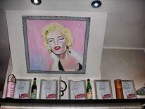 Marylin monroe, Wandgemäde, Schauspieler, Hollywood