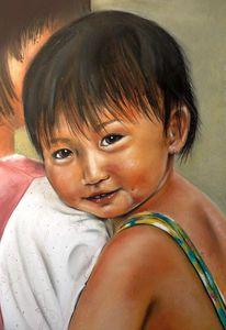 Saigon, Neugier, Markt, Kind