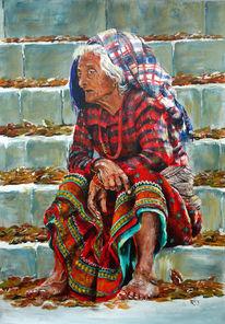 Sitzen, Nepal, Rasen, Nagarkot