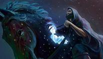Pferde, Nacht, Erlkönig, Unendlichkeit