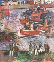 Expressionismus, 1953, Bugsierdampfer, Malerei