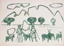 Holocaust, Mediterran, Landschaft, 1952