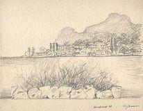 1961, Malerei, Montreux, Zeichnung