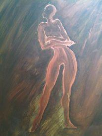 Malerei, Akt, Frau, Mann