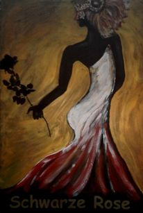 Schwarze rose, Maske, Traumvilla, Schwarze frau