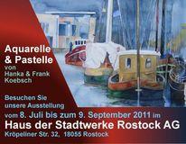 Hanka koebsch, Ausstellung, Aquarellmalerei, Rostock