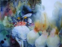 Sommer, Blumen, Gemälde, Aquarellmalerei