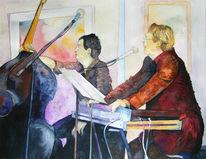 Jazztime, Treffen, Abend, Malerei